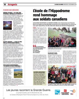 Voix du Nord Artois 3/12/14